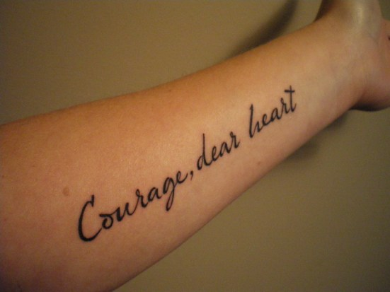 Strength and Courage Tattoos
